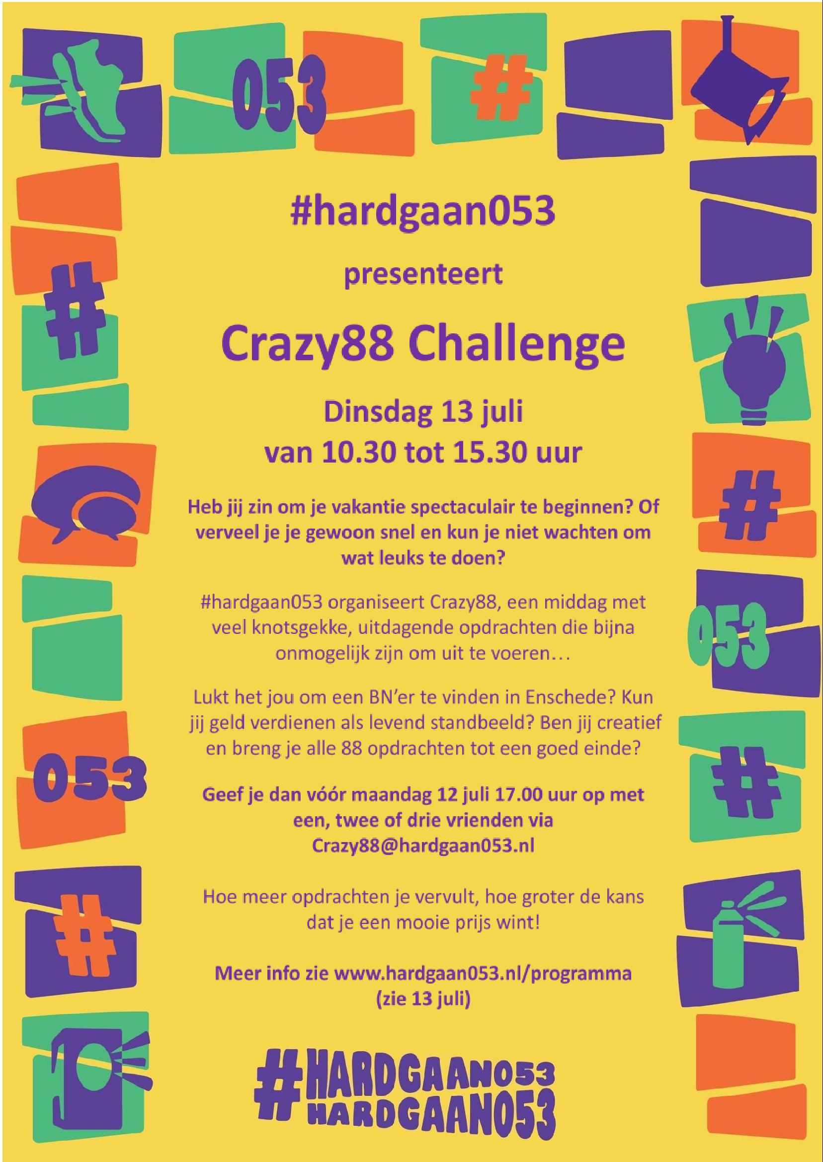 Read more about the article Nieuws van het actieprogramma #hardgaan053
