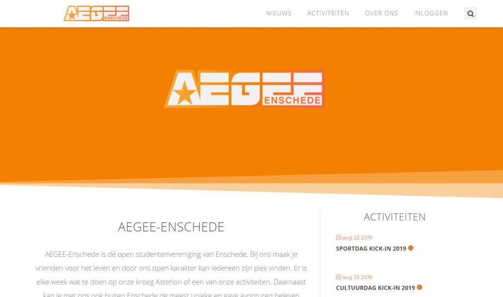 website aegee nieuw